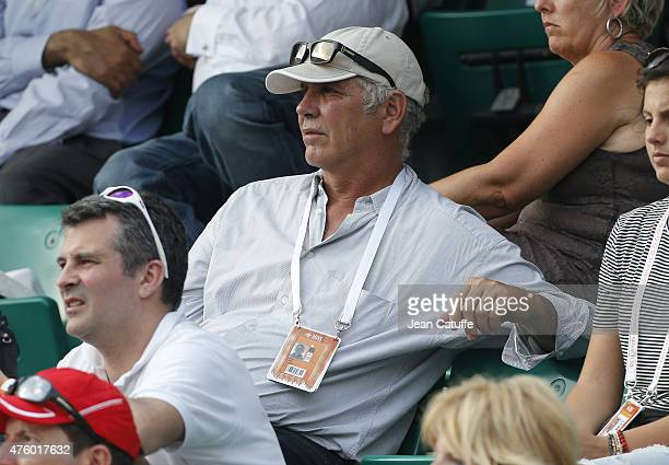 Andres Gomez attends day 13 of the French Open 2015 at Roland Garros stadium on June 5 2015 in Paris France