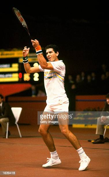 Andres Gomez of Ecuador in action during the Benson and Hedges Tournament Mandatory Credit Allsport UK /Allsport