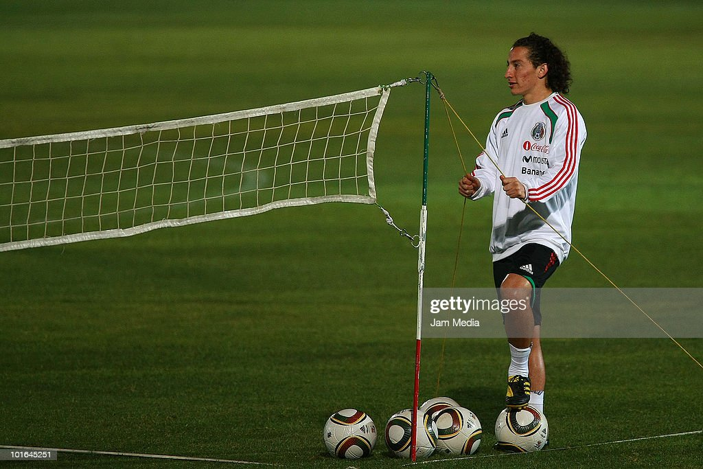 Andres Guardado of Mexico during a training session at Waterstone College as part of their preparation for FIFA 2010 World Cup on June 5, 2010 in Johannesburg, South Africa.