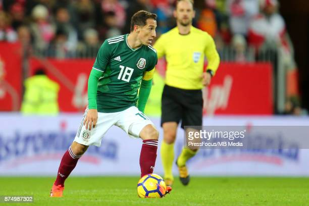 Andres Guardado of Mexico during the international friendly match between Poland and Mexico on November 13 2017 in Gdansk Poland