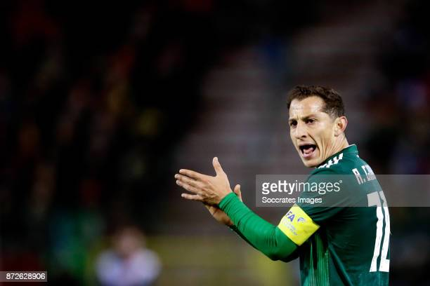 Andres Guardado of Mexico during the International Friendly match between Belgium v Mexico at the Koning Boudewijnstadion on November 10 2017 in...