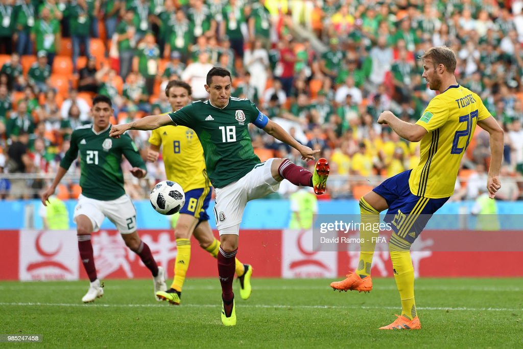 Mexico v Sweden: Group F - 2018 FIFA World Cup Russia : Nachrichtenfoto