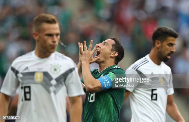 Andres Guardado of Mexico reacts during the 2018 FIFA World Cup Russia group F match between Germany and Mexico at Luzhniki Stadium on June 17 2018...