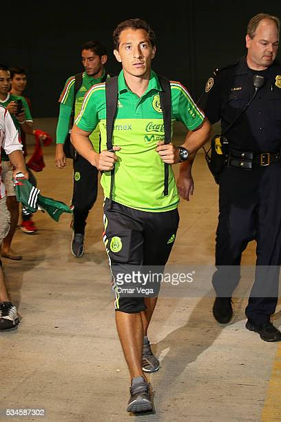Andres Guardado of Mexico walks during the Mexico National Team arrival to United States at HartsfieldJackson International Airport on May 26 2016 in...
