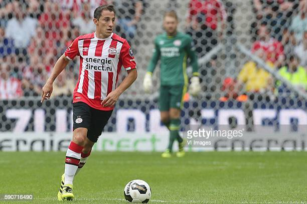 Andres Guardado of PSV during the Dutch Eredivisie match between PSV and AZ at the Philips Stadium on august 14 2016 in Eindhoven the Netherlands