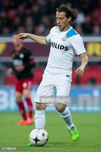 Andres Guardado of PSV Eindhoven during the Dutch Eredivisie match between Excelsior Rotterdam and PSV Eindoven at Woudenstein stadium on April 25...