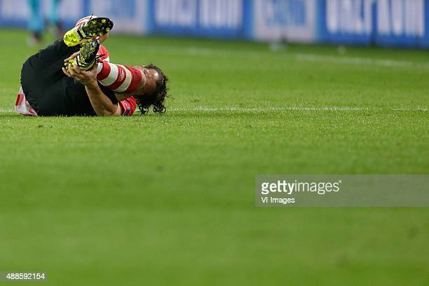 Andres Guardado of PSV Eindhoven during the UEFA Champions League group B match between PSV Eindhoven and Manchester United on September 15 2015 at...