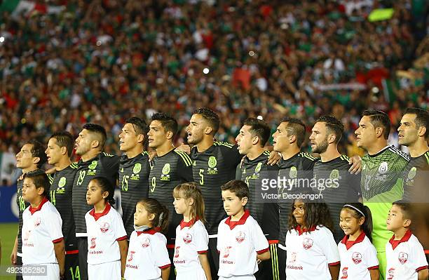 Andres Guardado#18 Javier Hernandez Oribe Peralta Hector Moreno Raul Jimenez Diego Reyes Hector Herrera Paul Aguilar Miguel Layun goalkeeper Moises...