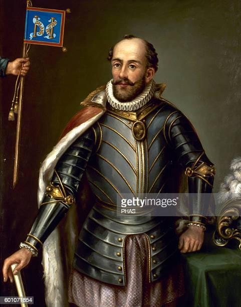 Andres Hurtado de Mendoza 3rd Marquis of Canete Spanish military 5th Viceroy of Peru Portrait Catholic University of Quito Ecuador