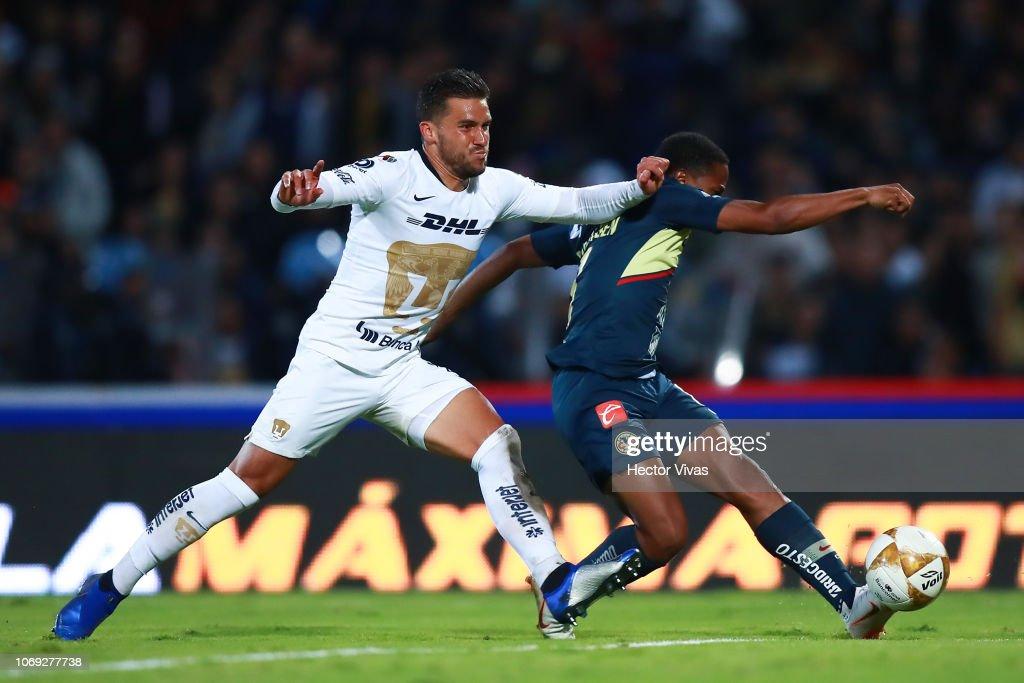 Pumas UNAM v America - Playoffs Torneo Apertura 2018 Liga MX : News Photo