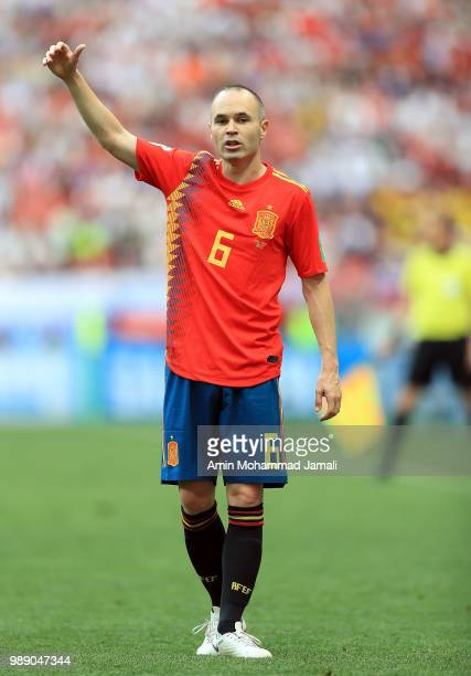 Andres Inesta of Spain looks on during the 2018 FIFA World Cup Russia Round of 16 match between Spain and Russia at Luzhniki Stadium on July 1 2018...