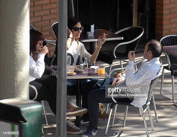 Andres Iniesta and Anna Ortiz sighted on March 13 2012 in Barcelona Spain
