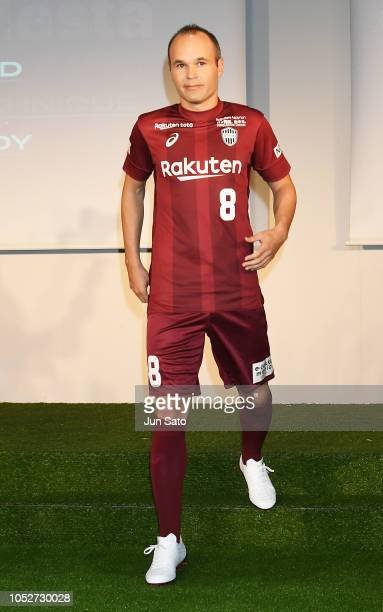 Andres Iniesta attends the press conference on October 22 2018 in Tokyo Japan The Asics Corp announced the new advisory agreement deal with Andreas...