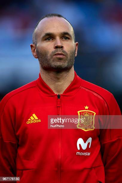 Andres Iniesta during a International friendly match between Spain against Switzerland in La Ceramica Stadium Villarreal Spain on 03 June of 2018