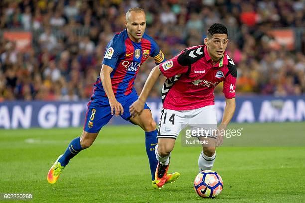 Andres Iniesta during La Liga match between FC Barcelona v D Alaves in Barcelona on September 10 2016