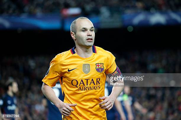 Andres Iniesta during the match between FC Barcelona and Atletico de Madrid corrresponding to the first leg of the 1/4 final of the UEFA Champions...