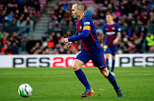 andres iniesta during match between fc