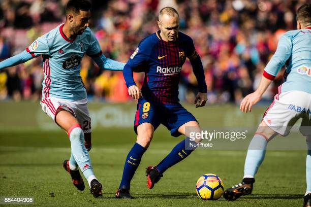 Andres Iniesta from Spain of FC Barcelona during the La Liga match between FC Barcelona v Celta de Vigo at Camp Nou Stadium on December 2 2017 in...
