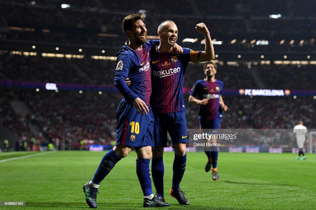 Barcelona v Sevilla - Spanish Copa del Rey Final : Fotografía de noticias