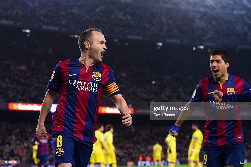 Barcelona v Villarreal CF - Copa del Rey Semi-Final: First Leg : News Photo