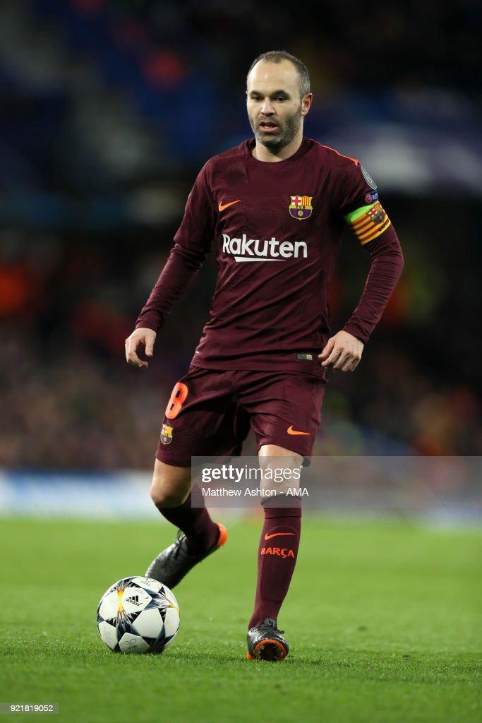 Chelsea FC v FC Barcelona - UEFA Champions League Round of 16: First Leg : News Photo