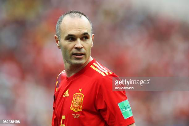 Andres Iniesta of Spain looks on during the 2018 FIFA World Cup Russia Round of 16 match between Spain and Russia at Luzhniki Stadium on July 1 2018...