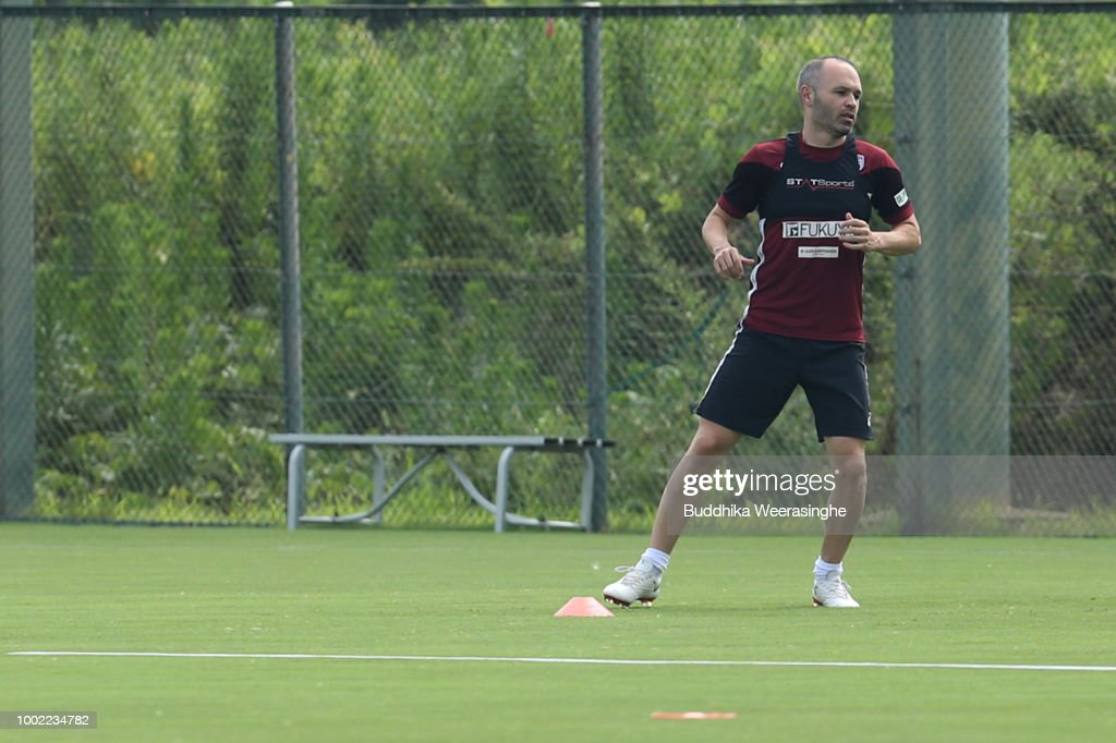 Andres Iniesta Attends First Training