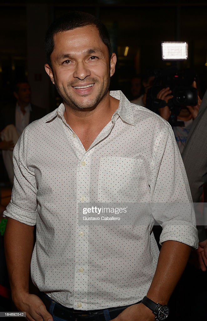 Andres Lopez arrives for the premiere of 'The Snitch Cartel' at Regal South Beach on October 14, 2013 in Miami, Florida.
