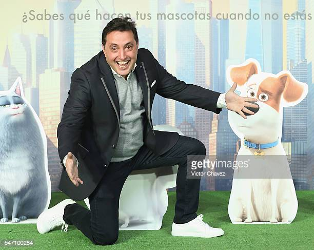 Andres Lopez attends a press conference and photocall to promote the new film 'The Secret Life of Pets' at St Regis Hotel on July 13 2016 in Mexico...
