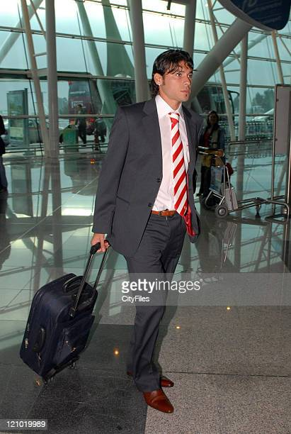 Andres Madrid during UEFA Cup - Braga arrive for game against Chievo at Verona in Verona, Italy.