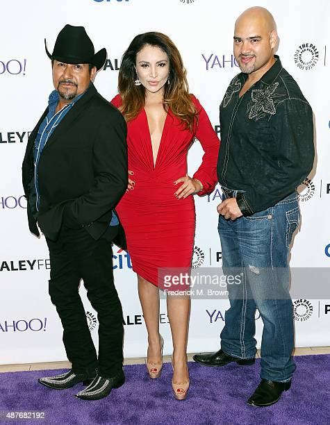 Andres Maldonado Silvia Del Valle and Raul Molinar attend The Paley Center for Media's PaleyFest 2015 Fall TV Preview for Univision at The Paley...