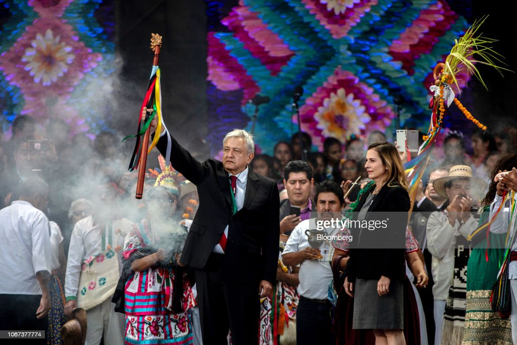 Inauguration Of Andres Manuel Lopez Obrador As Mexico's 58th President : News Photo