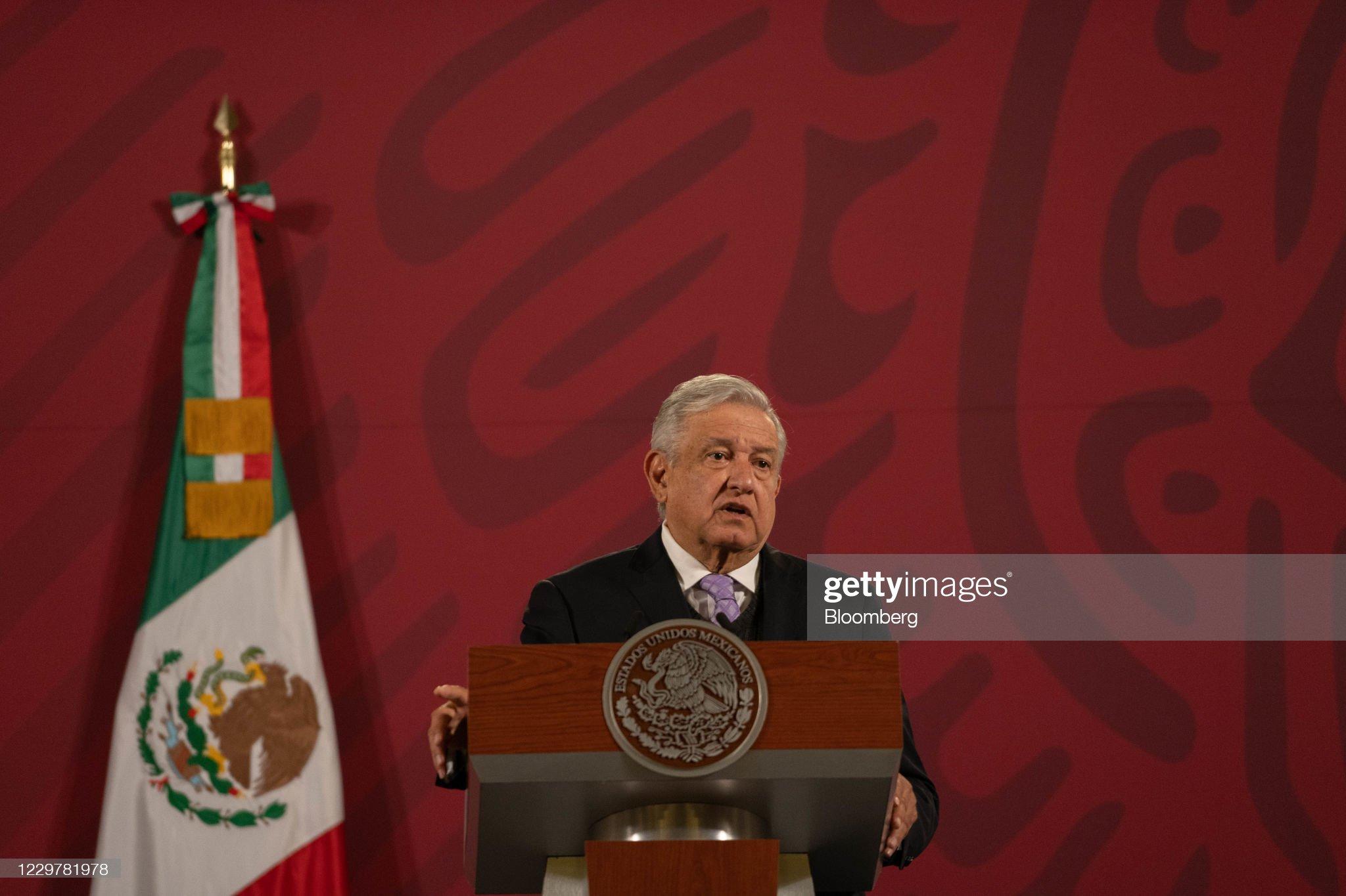 President Lopez Obrador Holds Daily Press Briefing : News Photo
