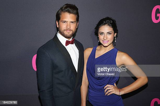 Andres Mercado and Renata Notni attend the Glamour Magazine 15th Anniversary at Casino Del Bosque on October 10 2013 in Mexico City Mexico