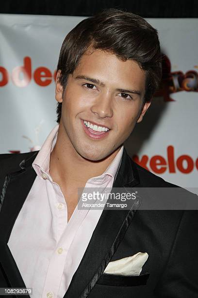Andres Mercado attends a press conference to present Nickelodeon Latin's new show 'Grachi' during Natpe 2011 at Fontainebleau Miami Beach on January...