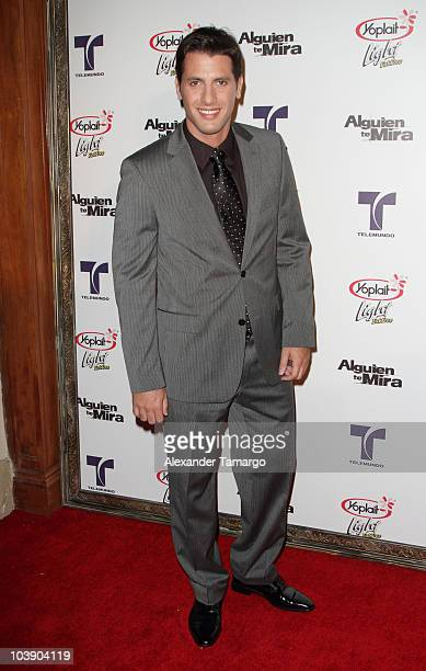 Andres Mistage attends screening of Telemundo's Alguien Te Mira at The Biltmore Hotel on September 7 2010 in Coral Gables Florida