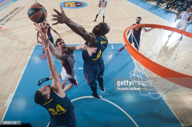 Andres Nocioni, #5 of Laboral Kutxa Vitoria in action during the 2013-2014 Turkish Airlines Euroleague Top 16 Date 14 game between FC Barcelona Regal...