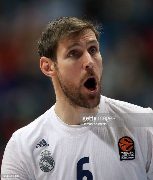 Andres Nocioni #6 of Real Madrid in action during the 2016/2017 Turkish Airlines EuroLeague Regular Season Round 22 game between Unics Kazan v Real...