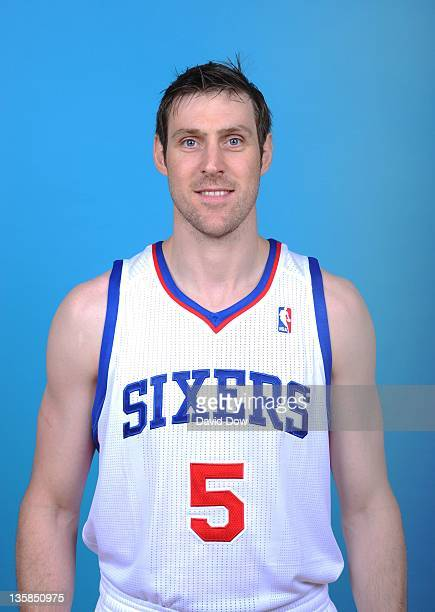 Andres Nocioni of the Philadelphia 76ers poses for a portrait during 2011 NBA Media Day on December 14 2011 at the Philadelphia College of...