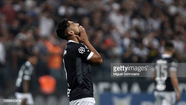 Andres Rios of Vasco da Gama reacts during a match between Corinthians and Vasco da Gama for the Brasileirao Series A 2018 at at Arena Corinthians on...