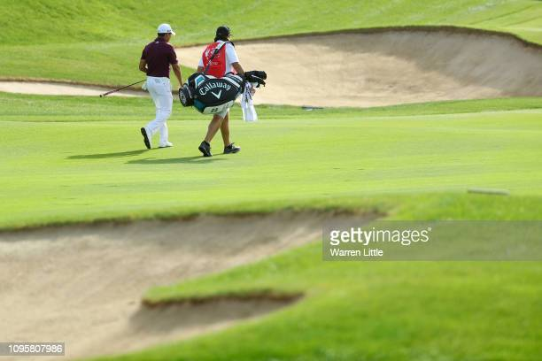 Andres Romero of Argentina walks on the third hole on the third hole during Day Three of the Abu Dhabi HSBC Golf Championship at Abu Dhabi Golf Club...