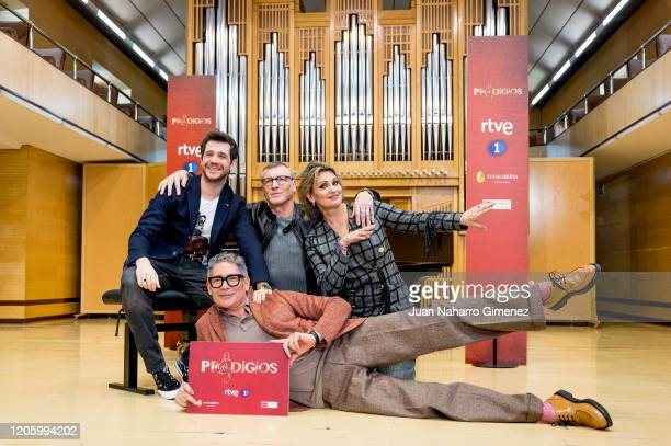 Andres Salado Nacho Duato Ainhoa Arteta and Boris Izaguirre attend 'Prodigios' photocall on February 13 2020 in Madrid Spain