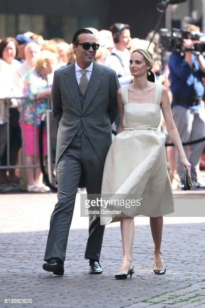Andres Santo Domingo and his wife Lauren Santo Domingo during the wedding of Prince Ernst August of Hanover jr Duke of BrunswickLueneburg and his...