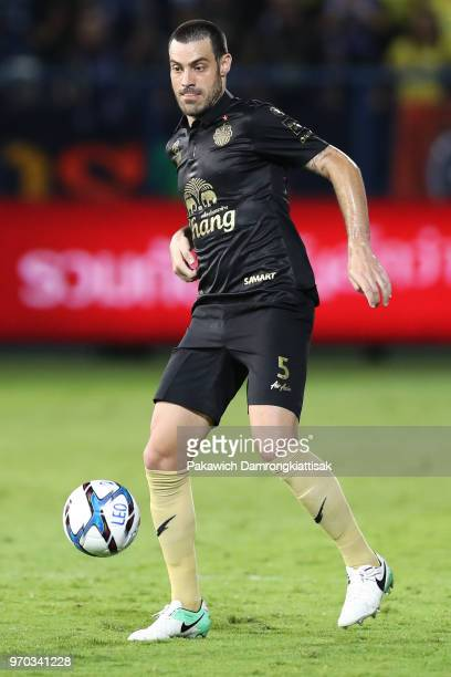 Andres Tunez of Buriram United FC in action during the Thai League 1 match between Bangkok Glass FC and Buriram United at LEO Stadium on June 9, 2018...