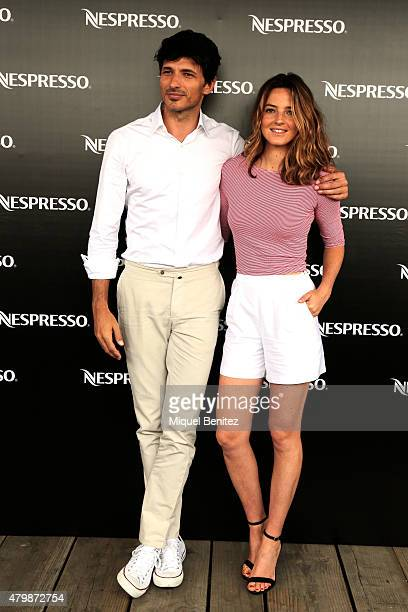 Andres Velencoso and Aida Artiles attend the Nesspresso Breakfast at Alma Hotel on July 8 2015 in Barcelona Spain