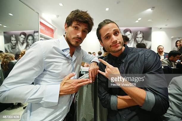 Andres Velencoso and Alosian Vivancos during the opening event of the new store of Joe Fresh at Palacio de Hierro on September 08 2015 in Mexico City...