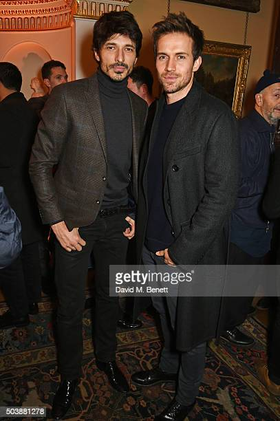 Andres Velencoso and Andrew Cooper attend the London Collections Men AW16 opening party hosted by the British Fashion Council and GQ Editor Dylan...
