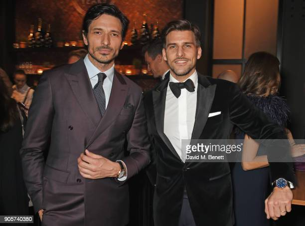 Andres Velencoso and Johannes Huebl attend the IWC Schaffhausen Gala celebrating the Maison's 150th anniversary and the launch of its Jubilee...