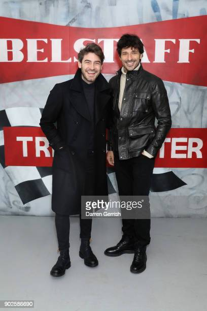 Andres Velencoso and Robert Konjic attend the Belstaff AW18 Mens Womens Presentation during London Fashion Week Men's January 2018 on January 8 2018...