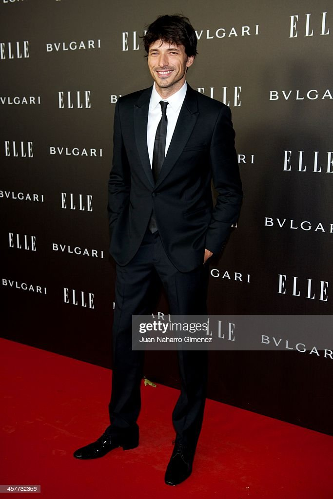 Andres Velencoso attends 'Elle Style Awards 2014' photocall at Italian Embassy on October 23, 2014 in Madrid, Spain.